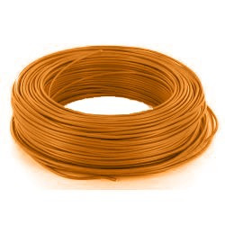 100m de câble H07V-U 1G1,5 fil orange - Cable