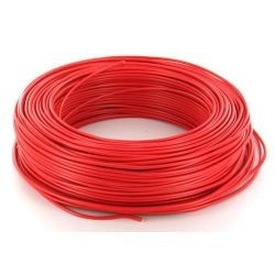 100m de câble H07V-U 1G2,5 fil rouge - Cable